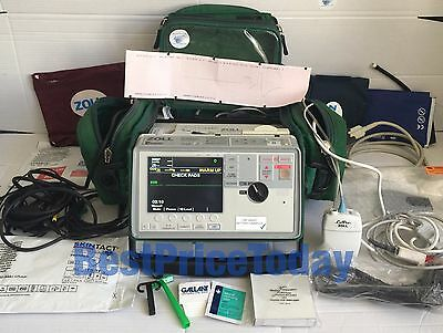 ZOLL 12 Lead E Series Defib Biphasic ECG SpO2 NIBP etCO2 Analyze Masimo LoFlo