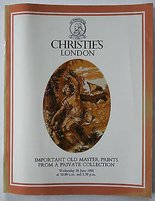 Christie's Important Old Master Prints Auction Catalogue, London, 26th June 1985