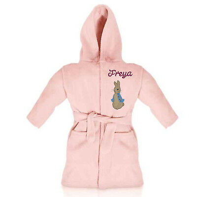 Peter Rabbit Girls Personalised Super Soft Fleece Dressing Gown
