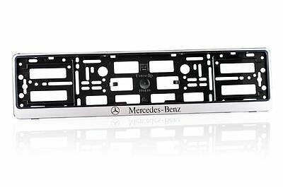 1 x MERCEDES-BENZ  Number Plate Surrounds Holder Frame ABS-PC Plastic  MS 1