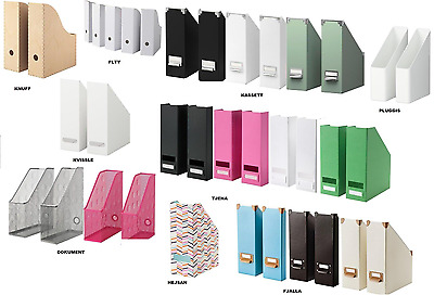 Ikea Magazine Storage Organiser High Quality Boxes Home Office Files Holder