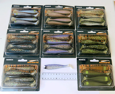 Leurre souple X4 Madness Mad shad 100 mm different colors