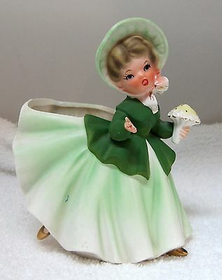 Vintage INARCO E-2447 St. Patrick's Day Girl Planter Hand's & Foot Away SHP