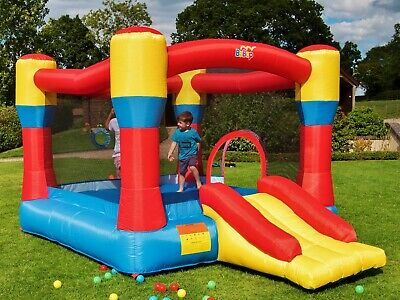 BeBop 12ft Classic inflatable Bouncy Castle and Slide for the Kids Garden