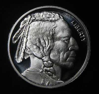 Indian Buffalo Silver Round 1 Troy Oz .999 Pure  Lot 121018