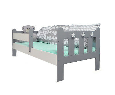 Stanley Toddler/Junior Bed Grey & White