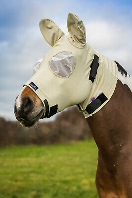 Snuggy Hoods Anti Itch Fly Mask/Fly Bonnet-Insect Protection -2 Colours 8 Sizes!
