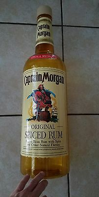 "Captain Morgan Spiced Rum Bottle Advertising Collectible Bank 24"" Tall"