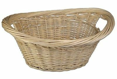 Parasene Bakaware Wicker Oval Log Basket Storage Handles Willow Laundry Hamper