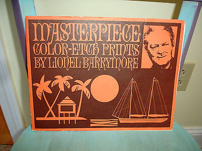 Art Print Etchings Collectible Signed Lionel Barrymore Set Of 4 In Folder