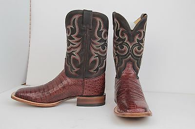 5051c364282 JUSTIN MEN'S AQHA Remuda Lucky Caiman Cowboy Boot Square Toe - 9616 Size 11  D