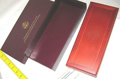 Smithsonian 150th Anniversary 4 Coin Gold & Silver Proof Set Case (BOX ONLY!!)