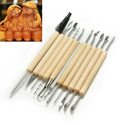 Pro. 11pcs Sculpture Sculpting Tools Set for Clay Pottery Carving Modeling ESUS