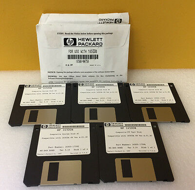 HP / Agilent 16500-68750 5 Disk Software Set, For 16500B logic Analyzers. New!