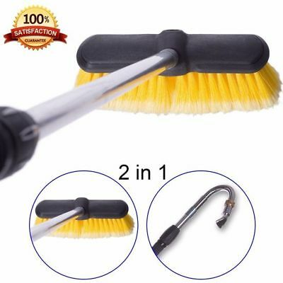 Telescopic Gutter Cleaner House Roof Car Truck Multipurpose Brush Cleaning Tool