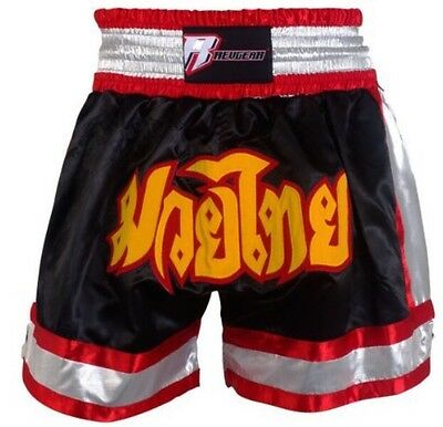 REVGEAR Deluxe Muay Thai Shorts (Black) Size X-Large NWT