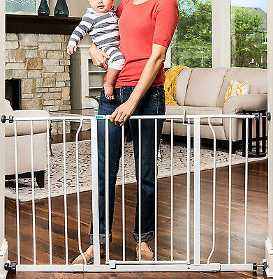Baby Safety Gate Wide Child Dog Pet Walk Thru Door Fence 50 Inch Pressure Mount
