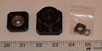Lot of 3 FK10/FF10-style ball screw bearing block sets with hardware