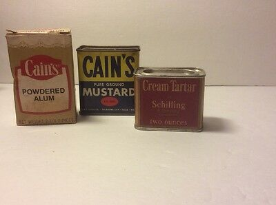 Vintage Spices Cains Alum, Ground Mustard And Cream Of Tarter