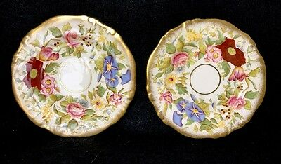 Hammersley Queen Anne Dessert Plates Set Of  (type A) Made In England Bone China