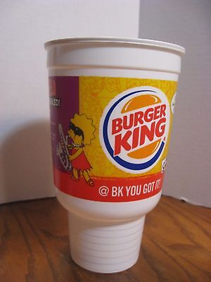 Burger King - The Simpsons -  42 oz. Plastic Cup -Springfield Revealed - Lisa