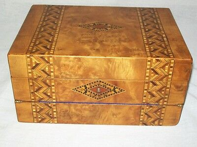 Antique Walnut Inlaid Hepplewhite Traveler's Lap Desk  DATED Circa 1790 - 1800.