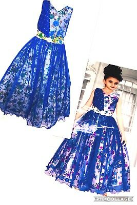 Partywear Fancy Kid Long Ball dress Designer Gown Anarkali Frock age 3-18 yrs