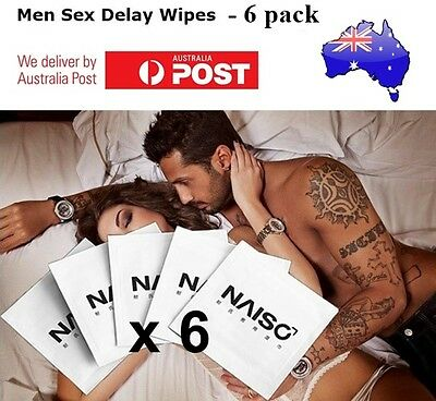 6 x NAISO Premature Ejaculation Sex Wipes Stop Delay Prevent Spray Numbing Cream
