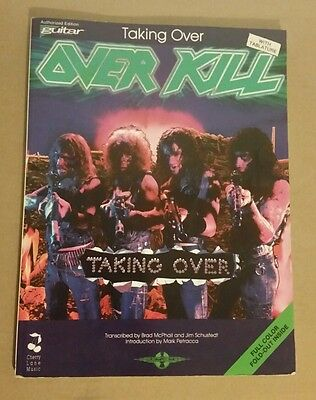 Overkill Taking Over Guitar Tab Tablature Song Book