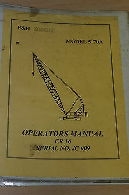Kobelco Operators Manual CR16 Model:5170A