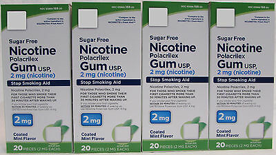Private Label Nicotine Polacrilex Gum 2mg Coated Mint Flavor (80 pieces)