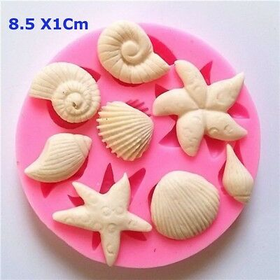 Silicone Cute Shellfish Starfish Shell Soap Cookie Candy Mold Mould Crafts DIY