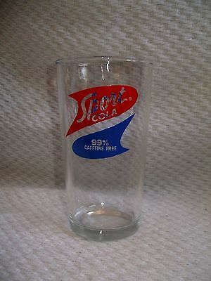 "Canada Dry Sport Cola - 99% Caffeine Free - Drinking Glass 5 1/4"" tall"