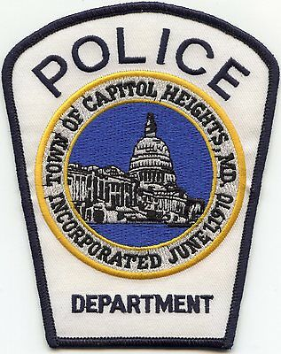 CAPITOL HEIGHTS MARYLAND MD white POLICE PATCH