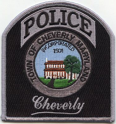 Cheverly Maryland Md Police Patch