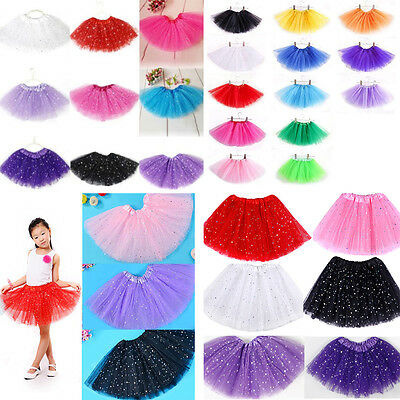 Girls Kids Baby Dance Fluffy Tutu Skirt Pettiskirt Ballet Dress Party Costume