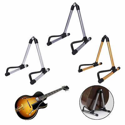 Foldable Electric Guitar Acoustic Bass Stand A Frame Holder Hanger Floor Rack