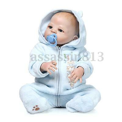 22'' Relastic Lifelike Reborn Bald Head Baby Doll Soft Vinyl Silicone Boy/Girl