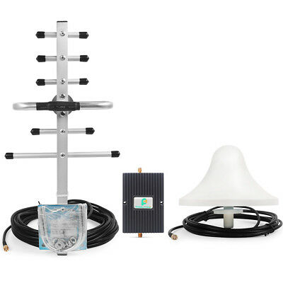 US Stock 3G 850/1900MHz 65db Cell Phone Repeater Signal Booster +Yagi Aerial