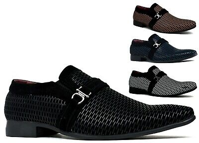 Brand New Mens Wedding Formal Party Smart Slip On Buckle Shoes Uk Size 6-11
