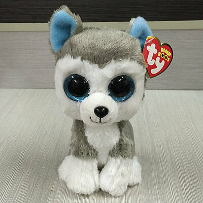 Soft Toy From  TY BEANIES BOOS Dog Slush Husky 6 inch  Stuffed toy