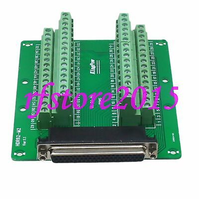 1pce Adapter DB62 62Pin Female Terminal Breakout PCB Board header 3 row screw