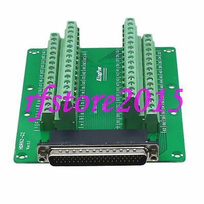 1pce Adapter DB62 62Pin Male Terminal Breakout PCB Board header 3 row screw