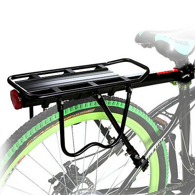 110lb Bike Rear Rack Carry Carrier Holder Seatpost Quick Release Pannier Cycling