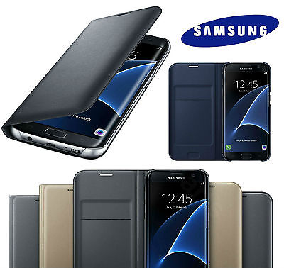 New Luxury For Samsung Galaxy S7 / S7 Edge Leather Wallet Card Flip Case Cover
