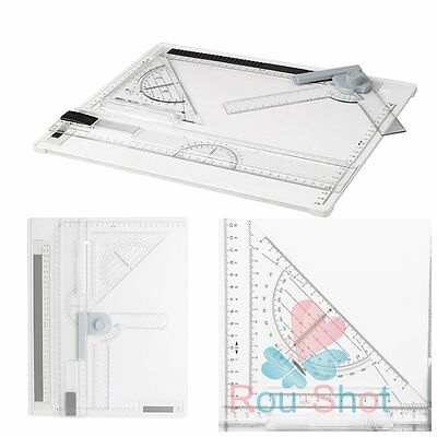 New Professional Architect Artist A4 Drafting Drawing Board Ruler Table Set【AU】