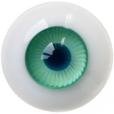 [wamami] 18mm Green Circle Glass Eyes Mesh Eyes Outfit For BJD Dollfie