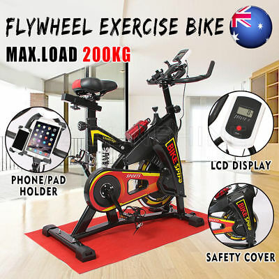OZ Flywheel Exercise Spin Bike LCD Display 200kg Fitness Home Gym Pulse Monitor