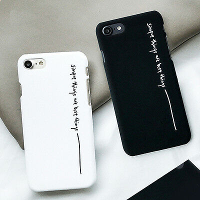Fashion Cool Letter Matte Hard PC Case Back Cover Case For iPhone 5 6S 7 Plus