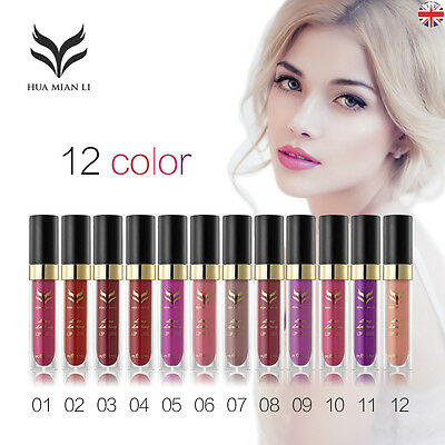 HUA MIAN LI Long Lasting Lip Gloss Makeup Lip Liquid Waterproof Matte Lipstick